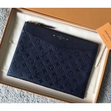 Louis Vuitton Daily Pouch in Monogram Empreinte Leather M62938 Blue