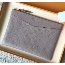 Louis Vuitton Daily Pouch in Monogram Empreinte Leather M62938 Grey