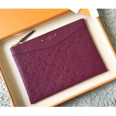 Louis Vuitton Daily Pouch in Monogram Empreinte Leather M62938 Grape