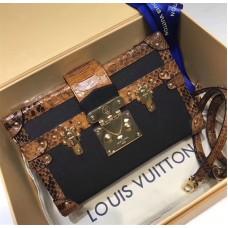Louis Vuitton Petite Malle N94723 Brown Python Leather/Black 2018