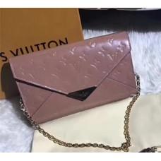 Louis Vuitton Monogram Vernis Leather Envelope Clutch on Chain M90990
