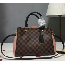 Louis Vuitton Brittany Damier Canvas Tote N41674 Pink 2018