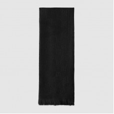 Gucci Black GG Jacquard Knitted Scarf