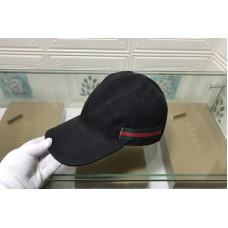 Gucci 200035 Original GG canvas baseball hat with Green/Red Web In Black Original GG