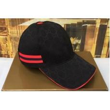 Gucci 200035 Original GG canvas baseball hat with Red/Blue Web In Black Original GG