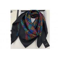Gucci 601309 GG Psychedelic print silk scarf in Black