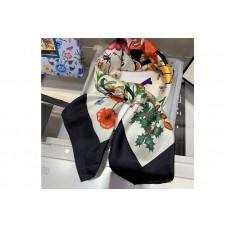 Gucci 607325 Disney x Gucci silk scarf in Black