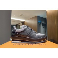 Louis Vuitton 1A5XLC LV Harlem richelieu sneaker in Monogram canvas, Epi leather and calf leather