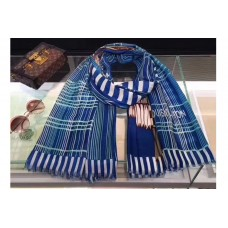 Louis Vuitton 100x200cm Cashmere Scarf And Shawl Blue