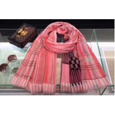 Louis Vuitton 100x200cm Cashmere Scarf And Shawl Pink