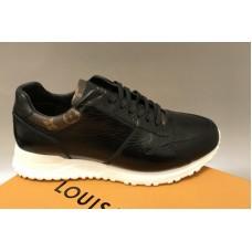 Louis Vuitton 1A41BC LV Run Away sneaker in Black Calf leather