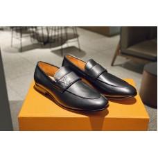 Louis Vuitton 1A32VW LV Saint Germain Loafer Shoe in Black calf leather