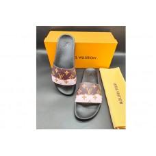 Louis Vuitton 1A3PSB LV Waterfront Mule Sandal in Brown Monogram rubber