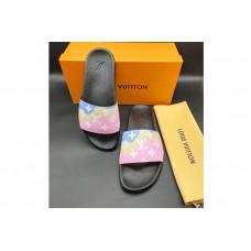 Louis Vuitton 1A3PSB LV Waterfront Mule Sandal in Pink Monogram rubber