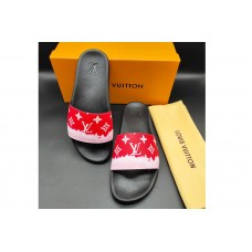 Louis Vuitton 1A3PSB LV Waterfront Mule Sandal in Red Monogram rubber