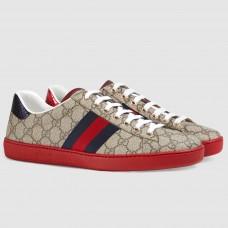 Gucci Men's Ace Beige GG Supreme Sneaker