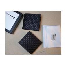 Gucci 145754 Bi-Fold Little GG Leather Wallet Black