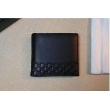 Gucci 256408 Guccissima Leather Bi-fold Wallet Black