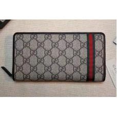 Gucci 291105 GG Supreme Canvas Web Zip Around Wallet