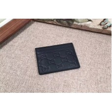 Gucci 233166 Signature leather card case Black