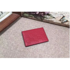 Gucci 233166 Signature leather card case Red