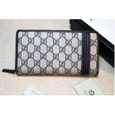 Gucci 291105 GG Supreme Web Zip Around Wallet