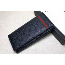 Gucci 212186 Guccissima Leather Bi-Fold Wallet Black