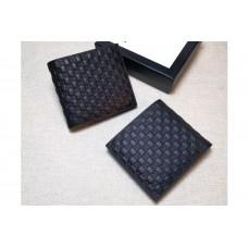 Gucci 145754 Bi-Fold GG Leather Wallet Black