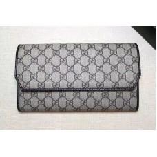 Gucci 163252 GG Canvas Continental Wallet Black