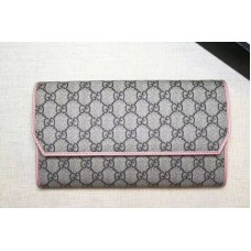 Gucci 163252 GG Canvas Continental Wallet Pink
