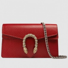Gucci Dionysus Chain Super Mini Bag 476432 Leather Red 2017