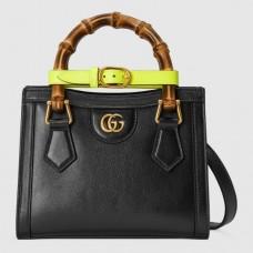 Gucci Diana Mini Tote Bag In Black Leather