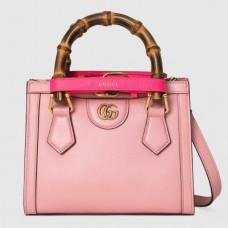Gucci Diana Mini Tote Bag In Pink Leather