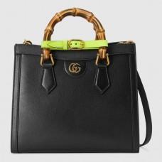 Gucci Diana Small Tote Bag In Black Leather