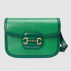 Gucci Green Horsebit 1955 Bicolor Small Shoulder Bag