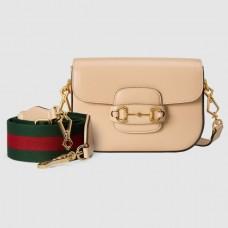 Gucci Horsebit 1955 Mini Bag In Beige Calfskin