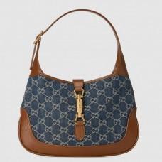 Gucci Jackie 1961 Small Hobo Bag In GG Denim