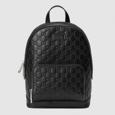 Gucci Black Signature Leather Small Backpack