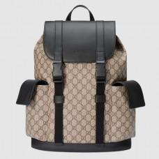 Gucci soft GG supreme canvas backpack 450958 Beige(742401)
