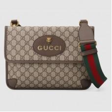 Gucci Web GG Supreme Messenger small Bag 495654 Coffee 2018