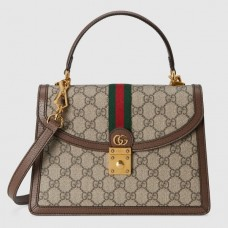 Gucci Ophidia Small Top Handle Bag With Web