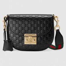 Gucci Padlock Medium Signature Leather Shoulder Bag