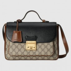 Gucci Padlock Small Shoulder Bag In GG Supreme Canvas