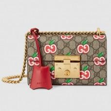 Gucci Valentine's Day Padlock Small GG Supreme Shoulder Bag