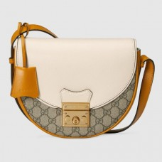Gucci White Padlock Small GG Supreme Shoulder Bag