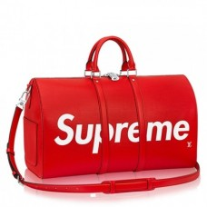 Louis Vuitton M53419 X Supreme Keepall 45 Bandouliere Bags Red