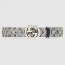 Gucci GG Supreme belt with G buckle 411924