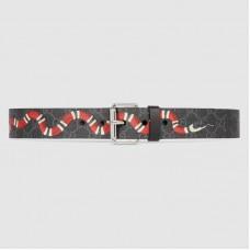 Gucci GG belt with Kingsnake print 434520