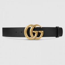 """Gucci Leather belt with Double G buckle 1.5"""" width"""