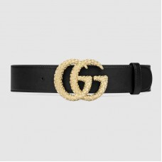 Gucci Belt with textured Double G buckle 582348